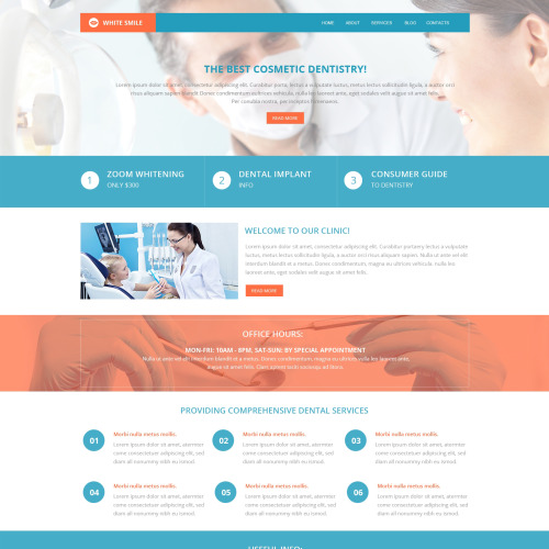 Whie Smile - HTML5 Drupal Template