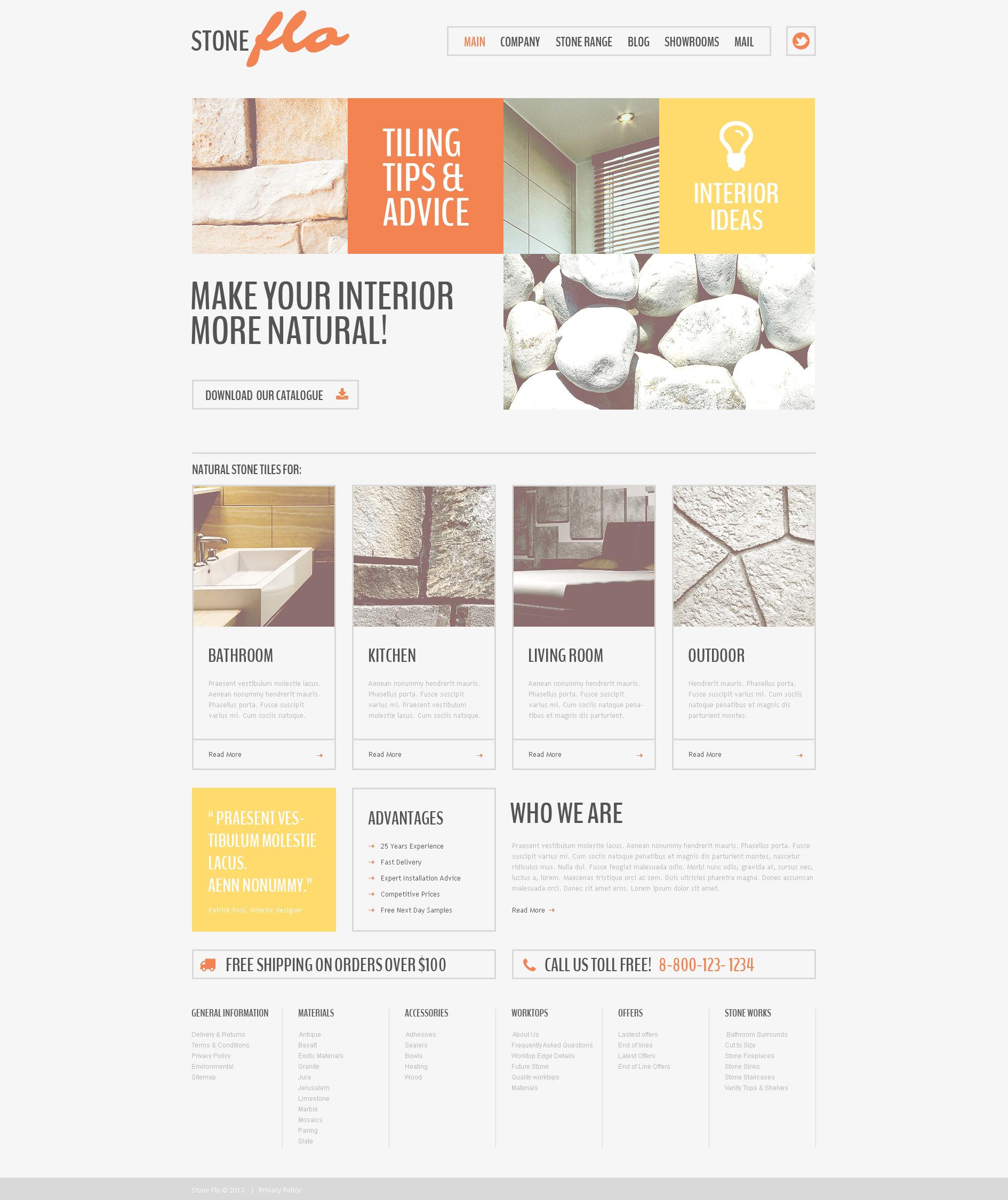 Drupal-mall för golvläggning #49316 - skärmbild