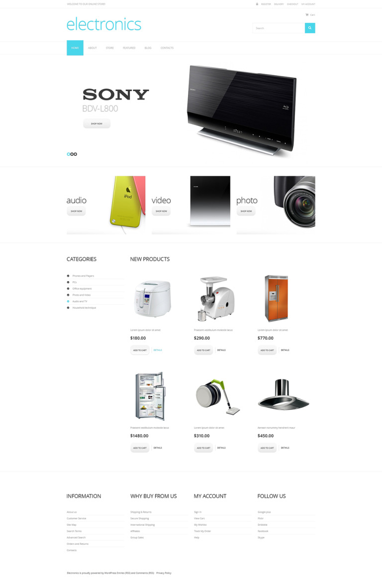 Electronics of the Future WooCommerce Theme New Screenshots BIG