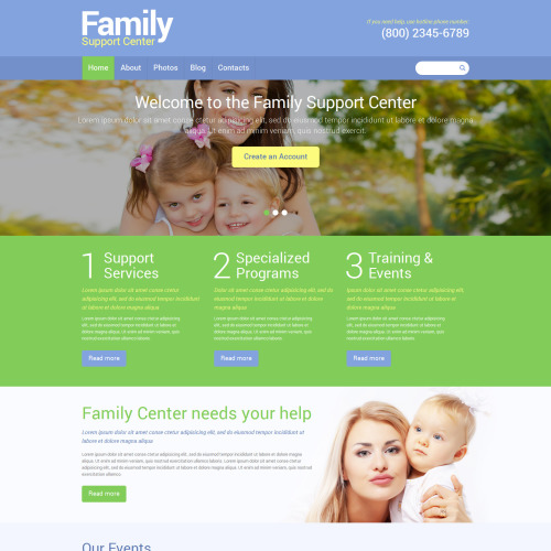 Family Support Center - Joomla! Template based on Bootstrap