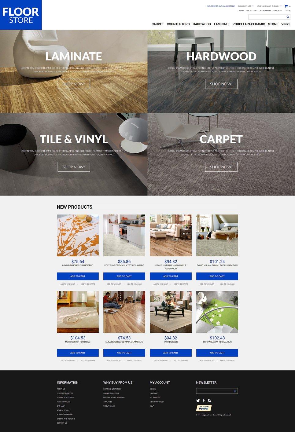 Floor Materials Store Magento Theme #49312