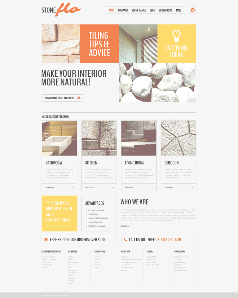 Flooring Drupal Template New Screenshots BIG