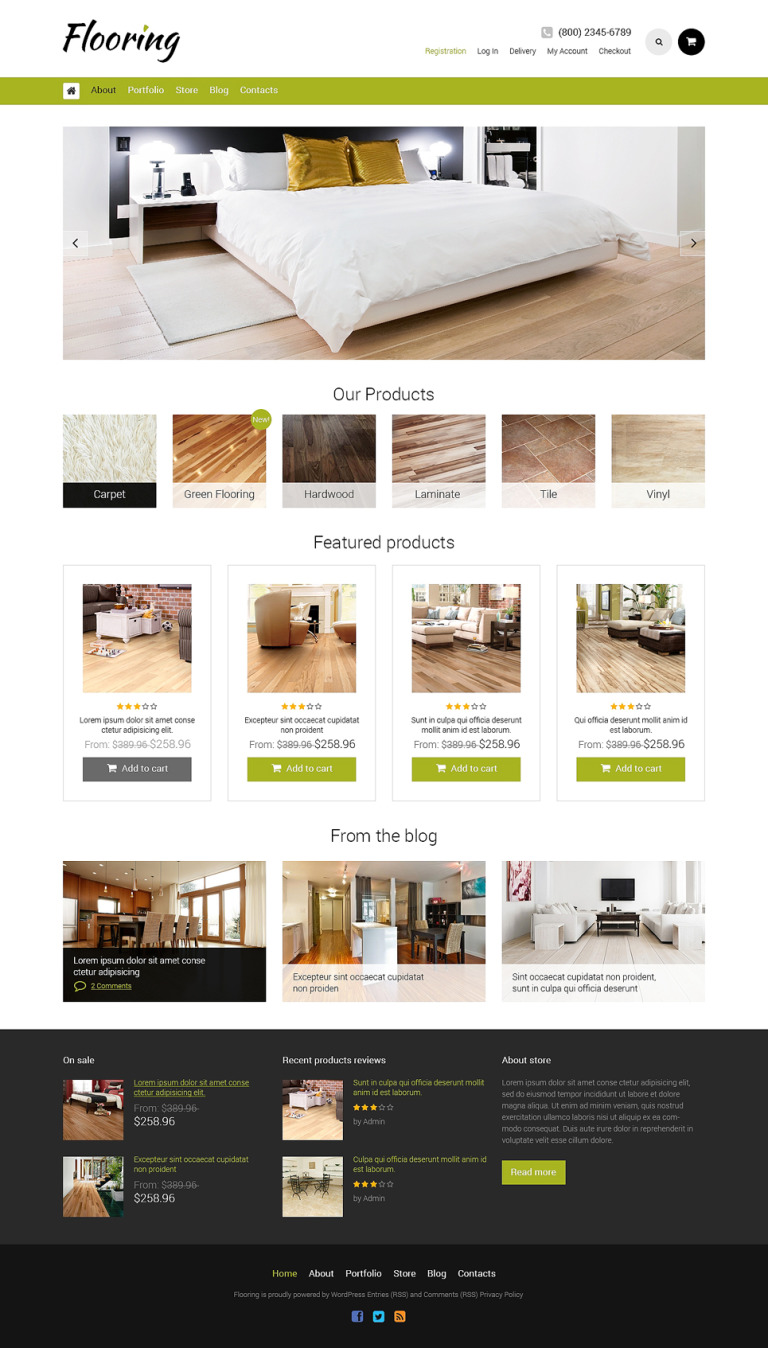 Flooring Responsive WooCommerce Theme New Screenshots BIG