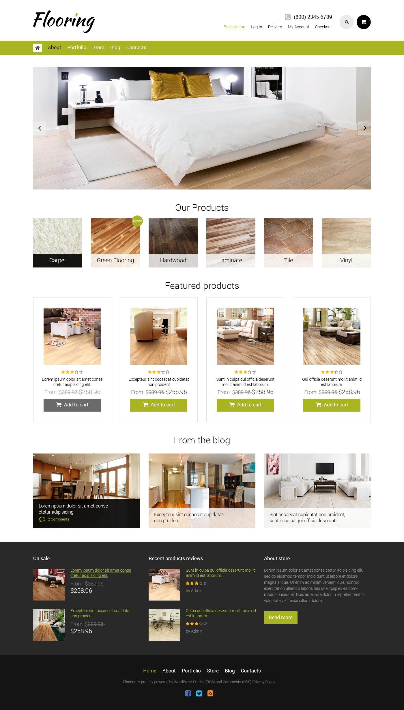 Flooring Responsive WooCommerce Theme - screenshot
