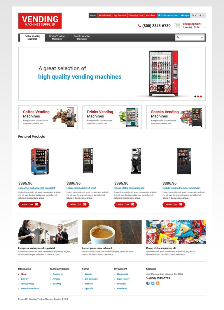 Food & Drink Responsive OpenCart Template New Screenshots BIG