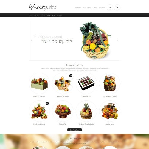 Fruit Gifts - WooCommerce Template based on Bootstrap