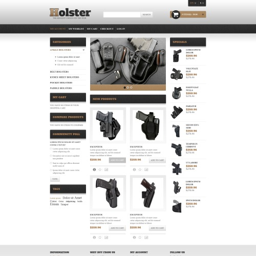 Holster  - Responsive Magento Template