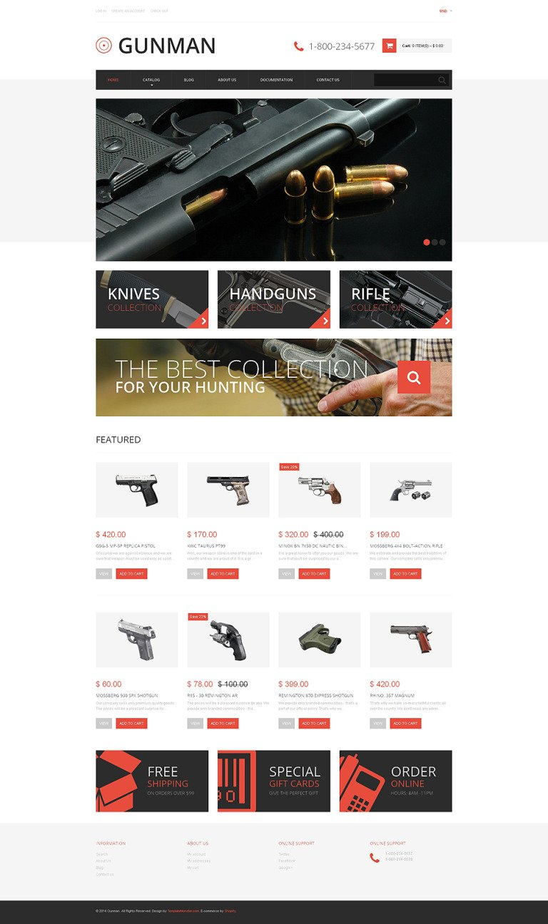 Gun Shop Responsive Shopify Theme New Screenshots BIG