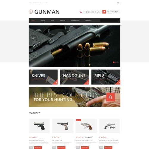 Gunman - Shopify Template based on Bootstrap