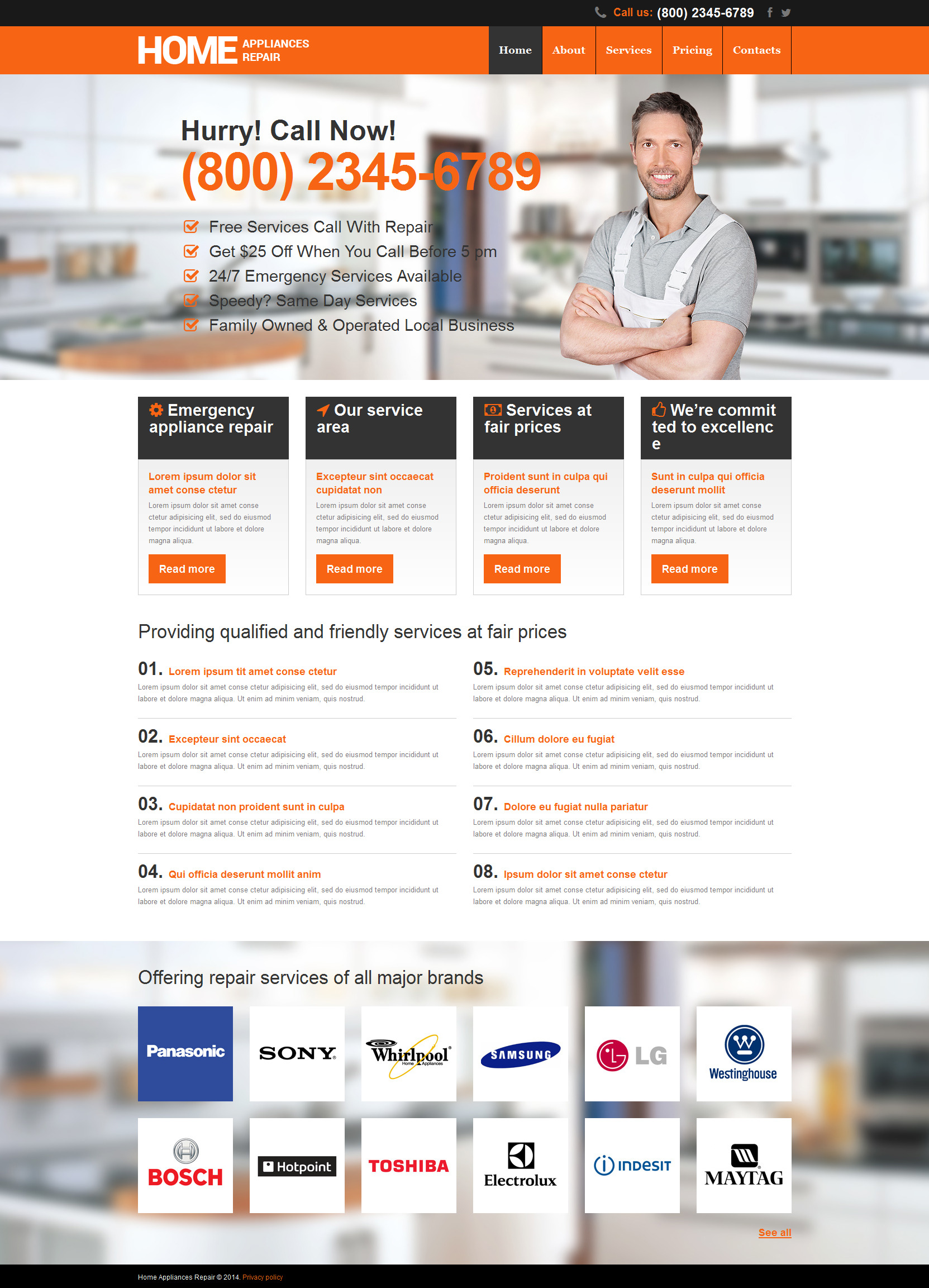 Home Repairs Responsive Website Template