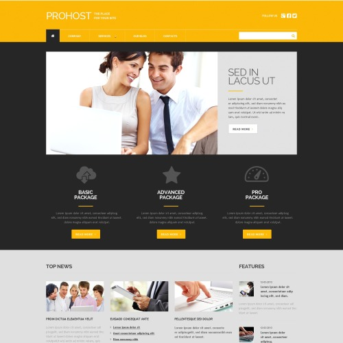 Prohost - WordPress Template based on Bootstrap