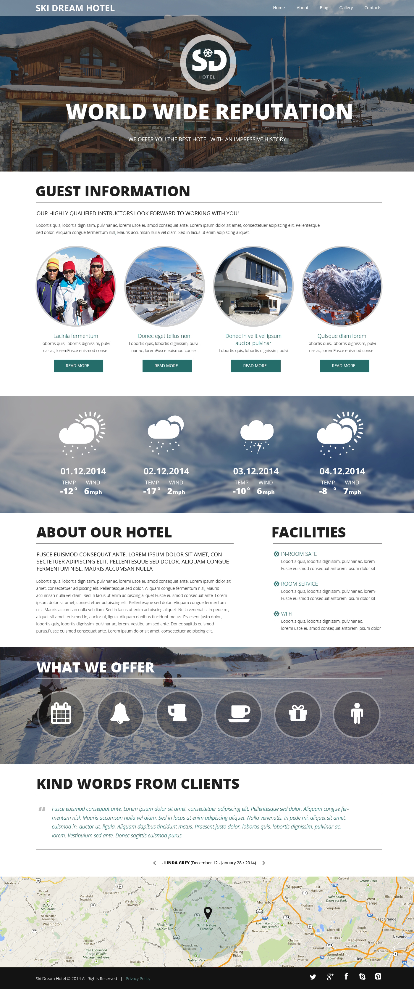 Hotels Responsive Website Template
