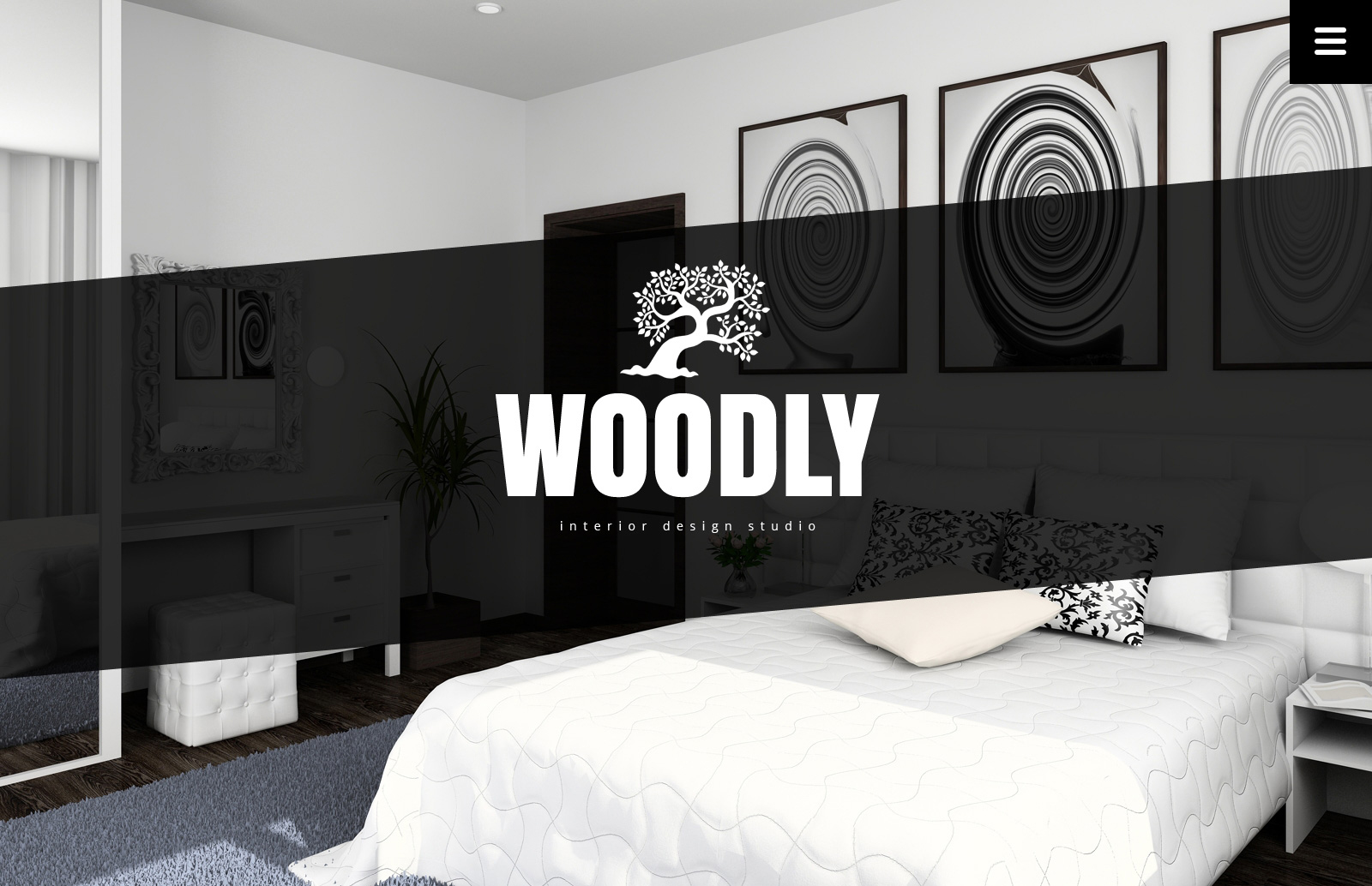 Interior Design Website Template - screenshot