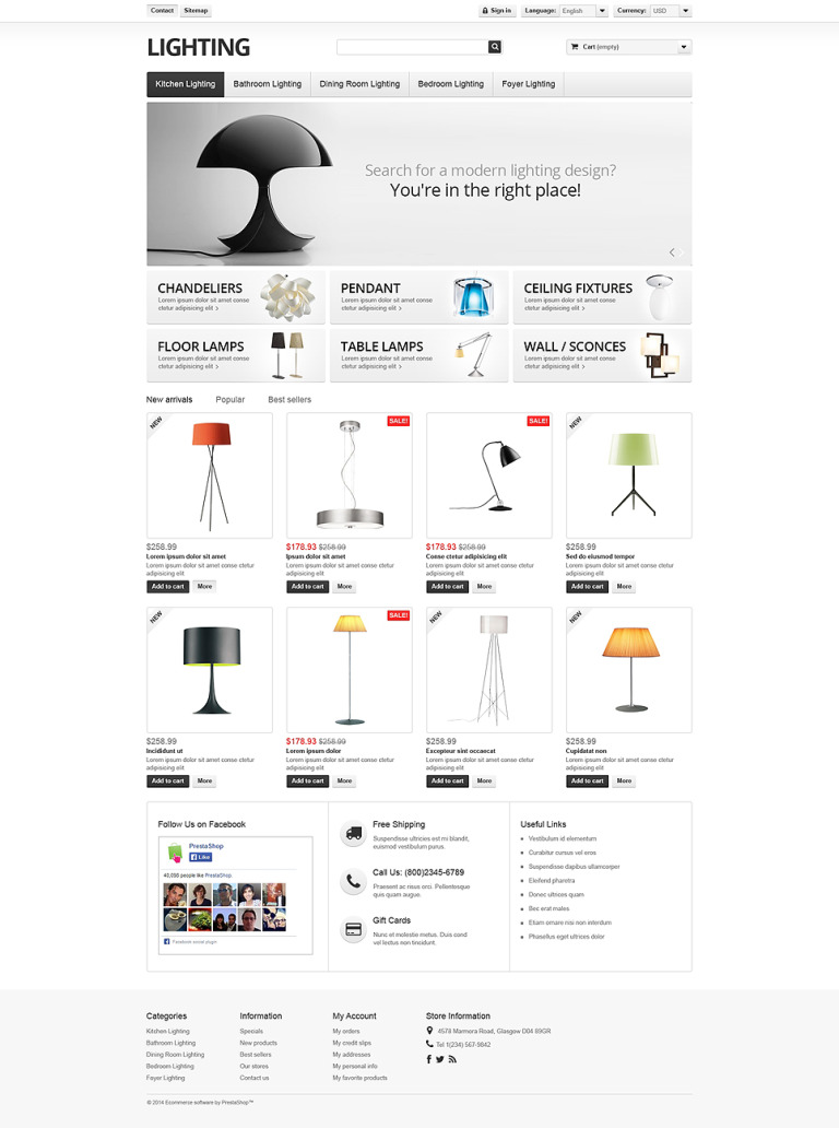 Lighting Interior PrestaShop Theme New Screenshots BIG