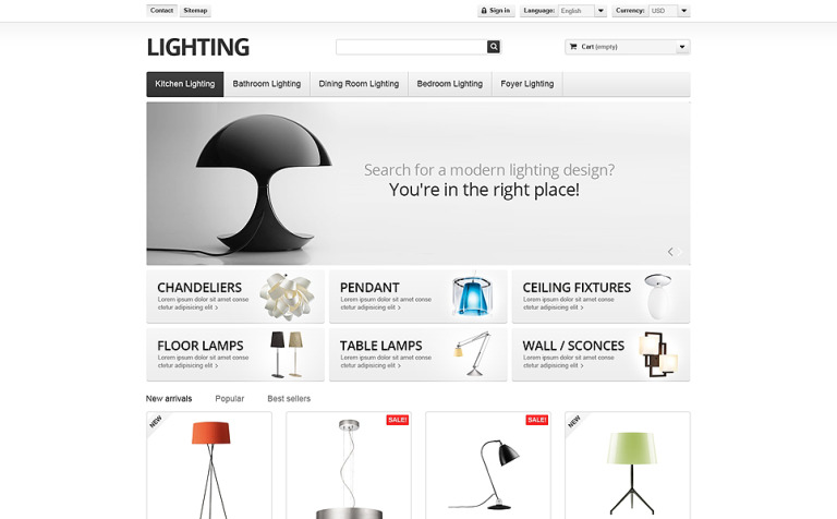 Lighting Interior PrestaShop Theme