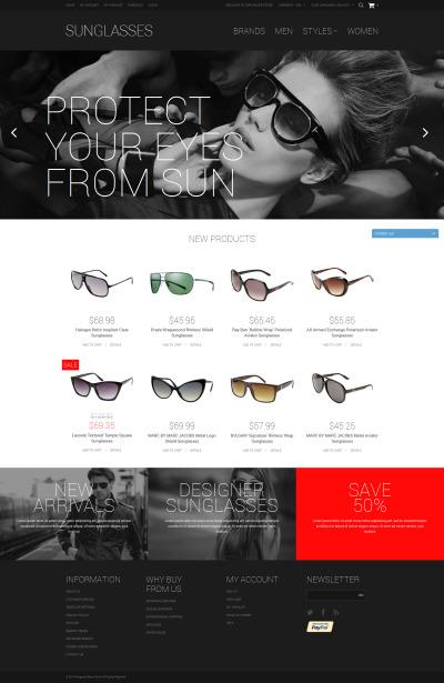 Responsives Magento Theme für Brillen