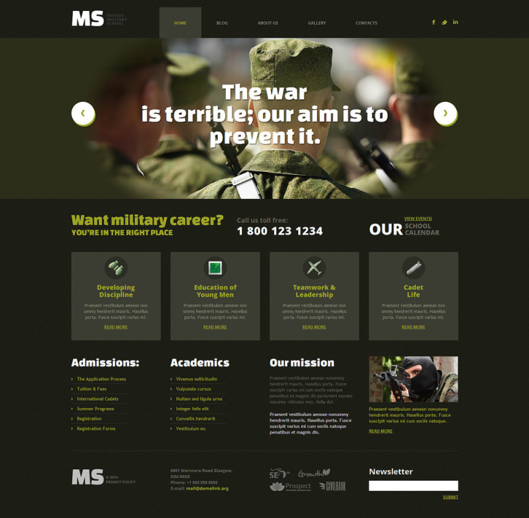 Military Responsive WordPress Theme New Screenshots BIG