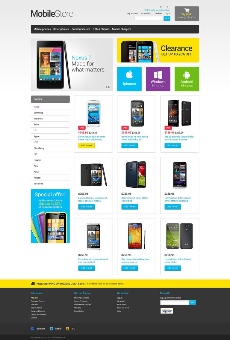 Mobile Store Responsive Magento Theme New Screenshots BIG