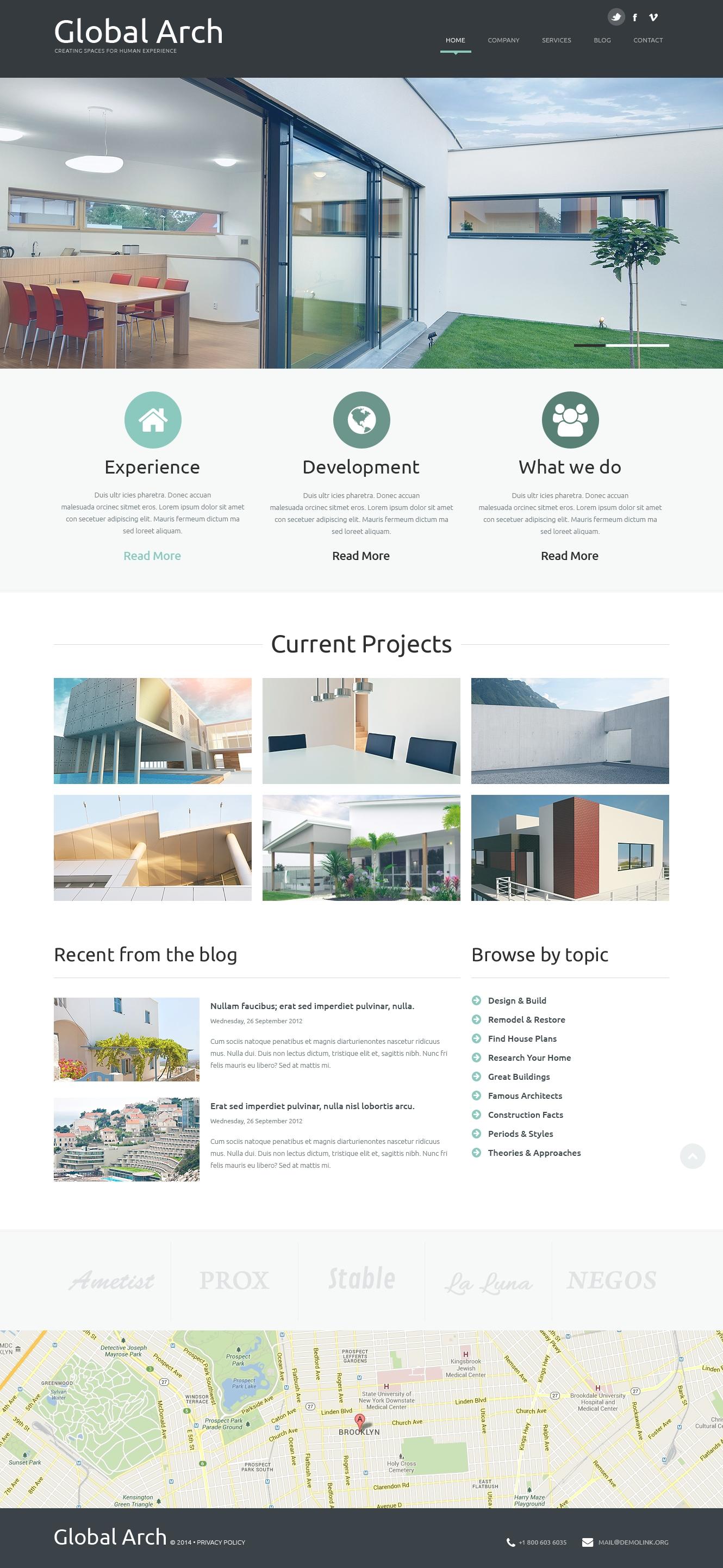 Modello Joomla Responsive #49343 per Un Sito di Architettura - screenshot