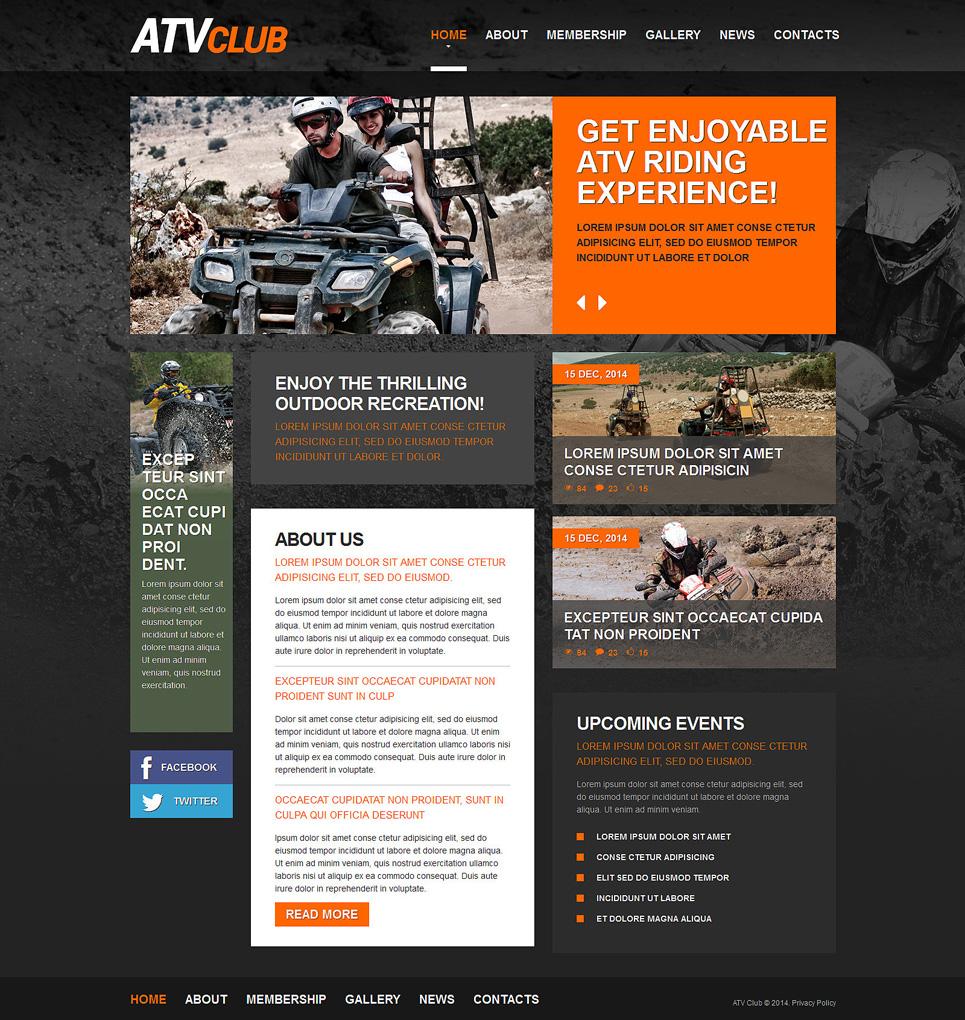 Motor Sports Responsive Website Template 49329