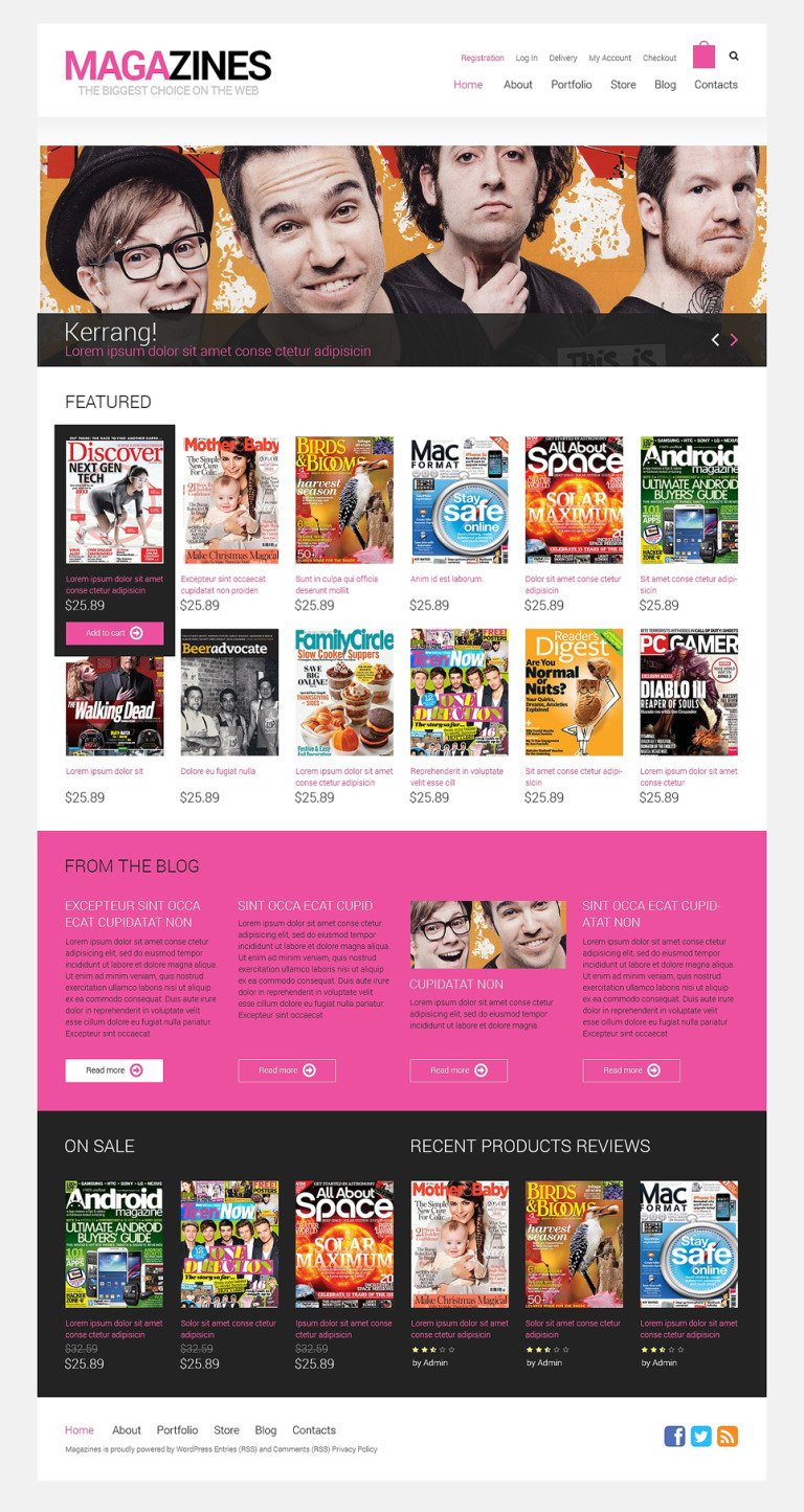 News Portal Responsive WooCommerce Theme New Screenshots BIG