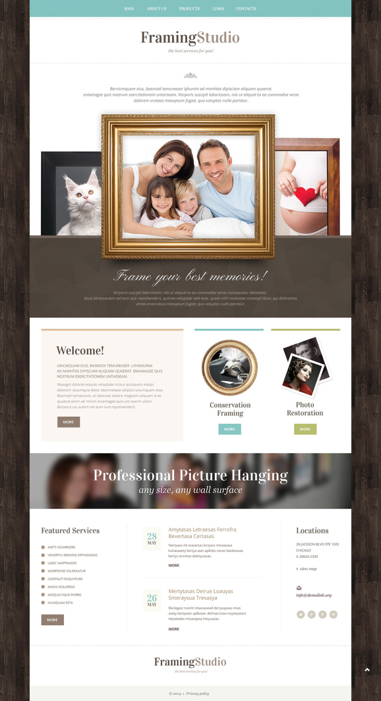Photo Studio Responsive Website Template New Screenshots BIG