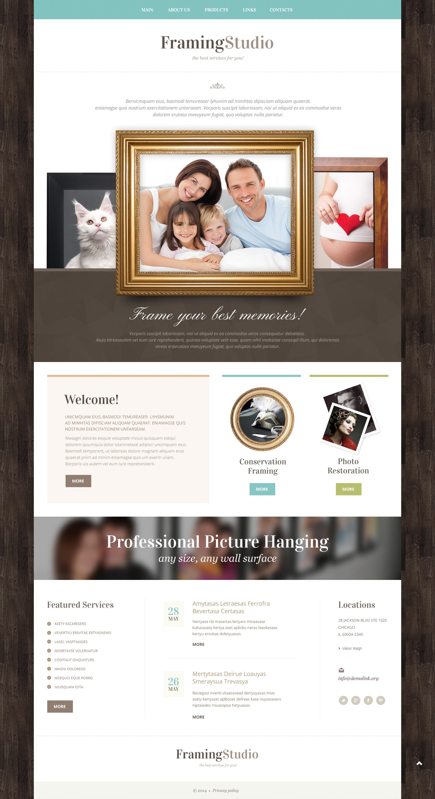 Photo Studio Responsive Website Template - screenshot