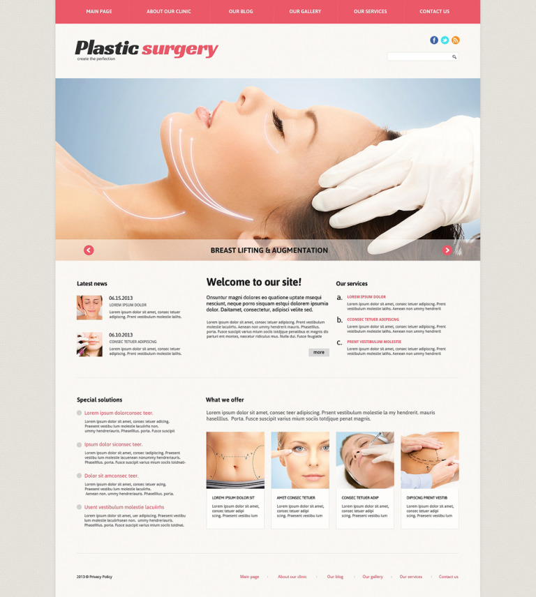 Plastic Surgery Responsive Joomla Template New Screenshots BIG
