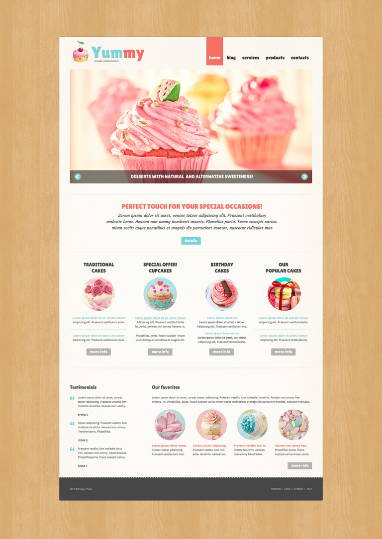 Private Confectionery Joomla Template New Screenshots BIG