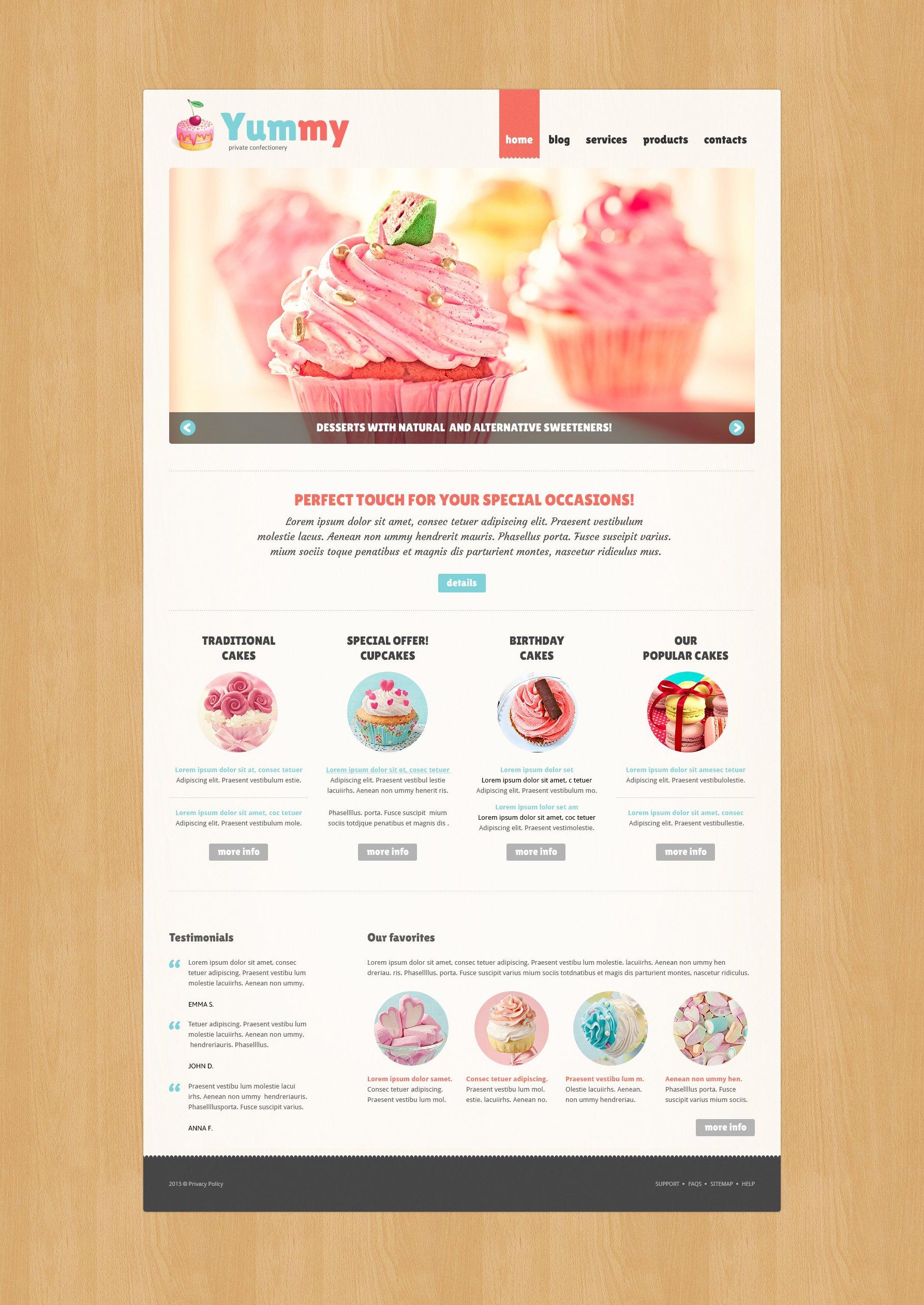 Private Confectionery Joomla Template