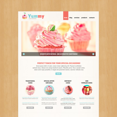 Sweet Shop Bootstrap Themes | TemplateMonster