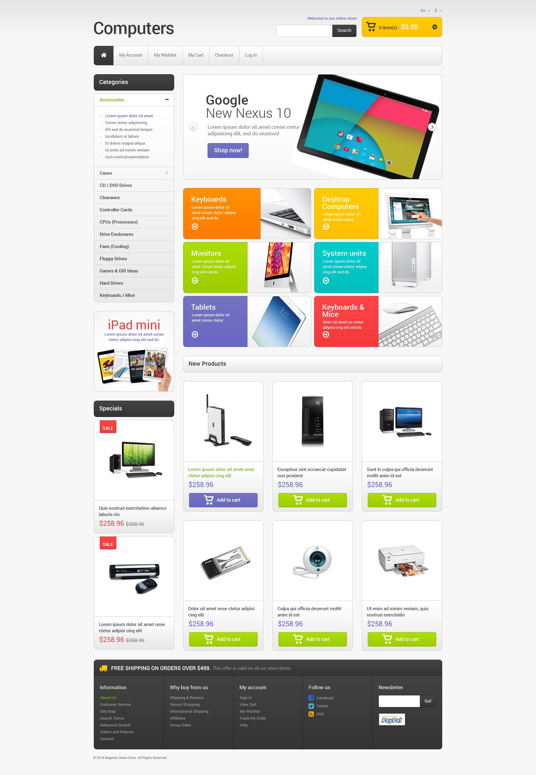 Responsive Bilgisayar Mağazası Magento #49367