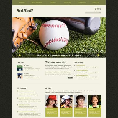 Responsive Joomla Vorlage für Baseball