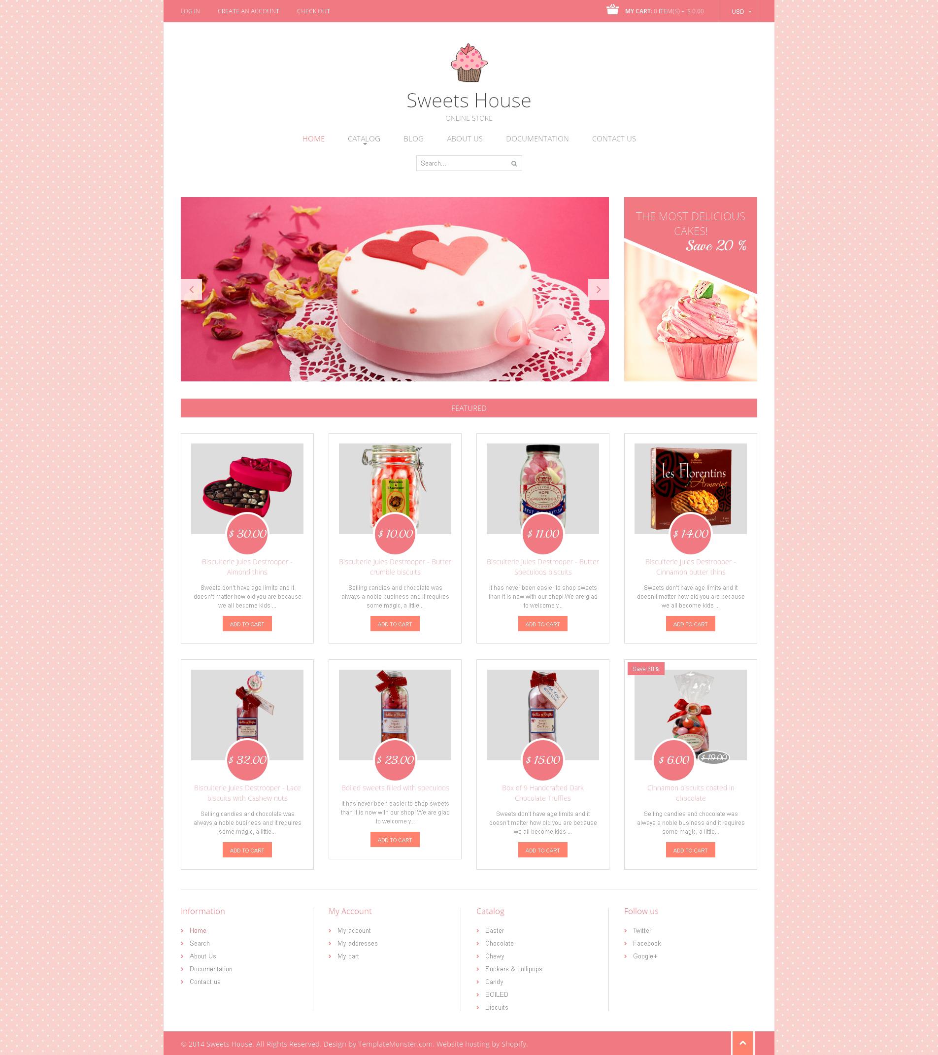 Responsive Tatlı Dükkanı Shopify #49363