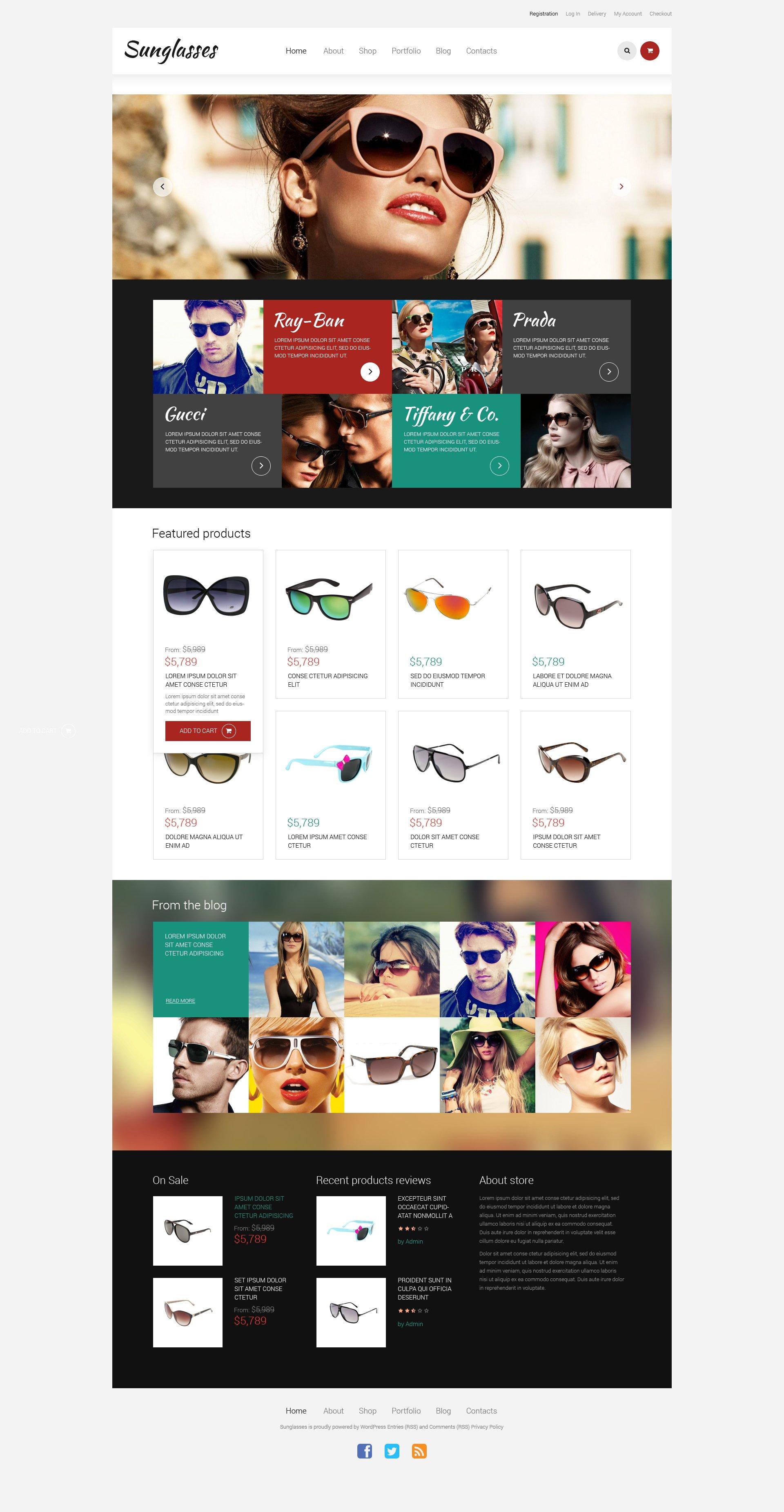 Responsivt Sunglasses - Responsive WooCommerce-tema #49378 - skärmbild