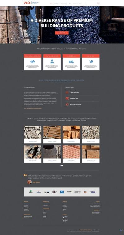 Construction Company Responsive Šablona Webových Stránek