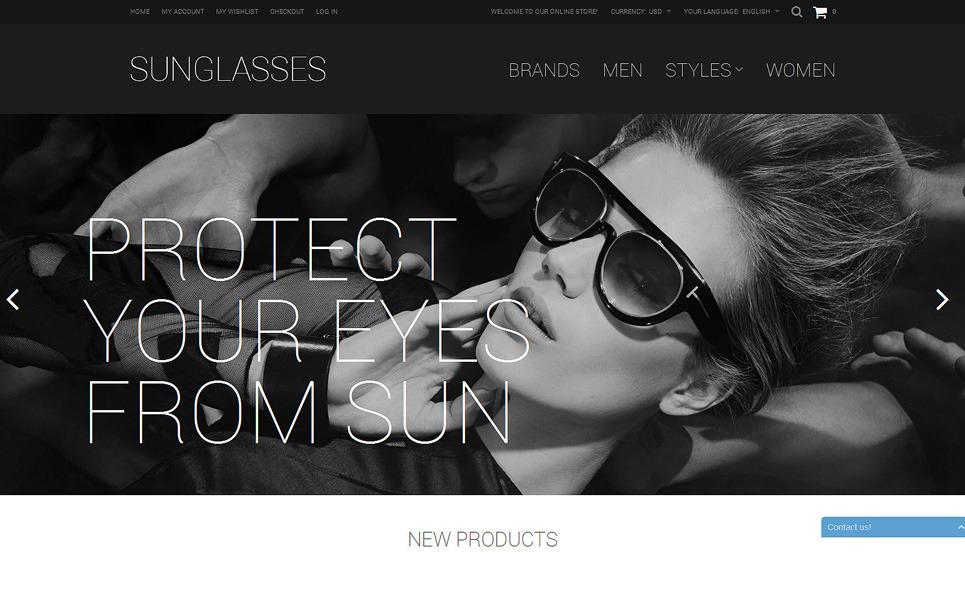 Reszponzív Szemüvegek Magento sablon New Screenshots BIG