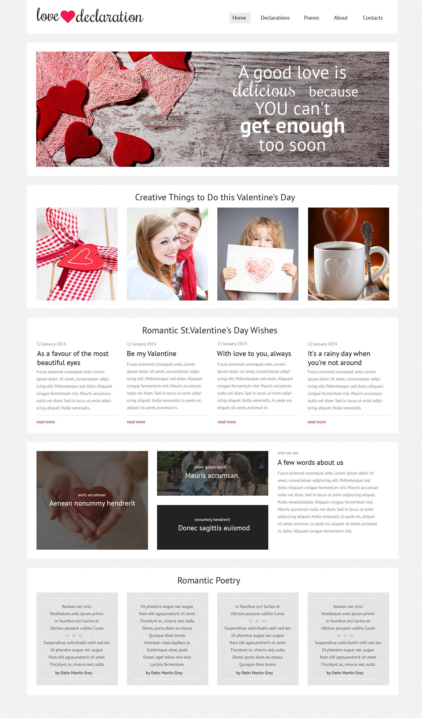 St. Valentine Responsive Website Template