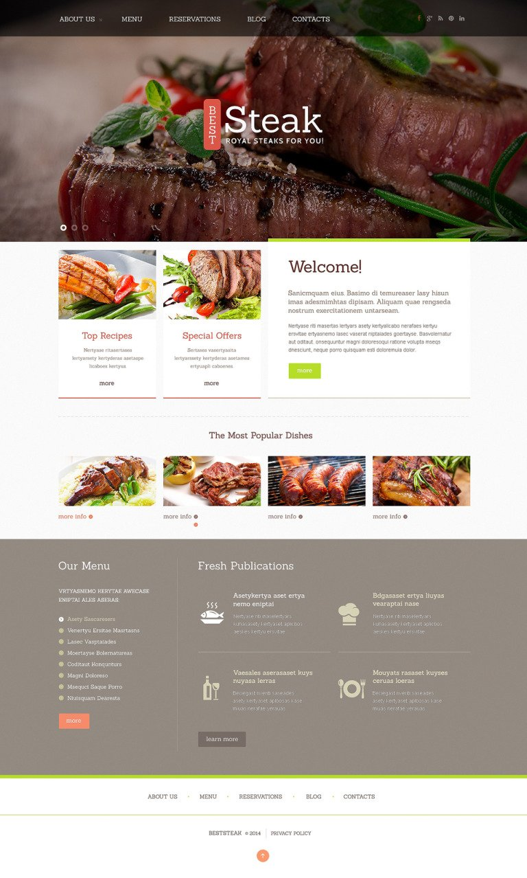 Steakhouse Responsive Joomla Template New Screenshots BIG