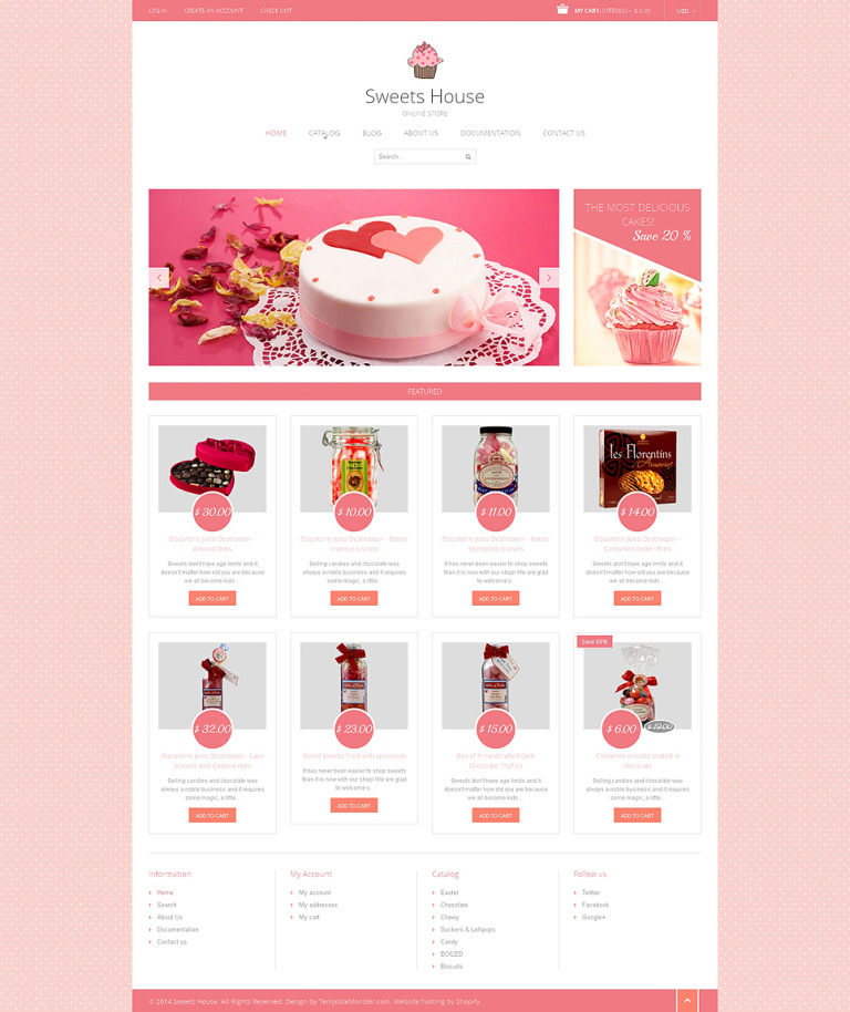 Sweet Shop Responsive Shopify Theme New Screenshots BIG