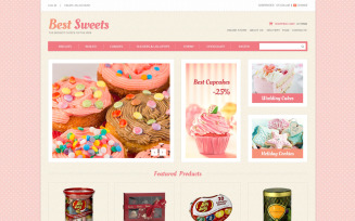 Sweets Store VirtueMart Template