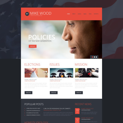 Temas WordPress para Sitios de Política
