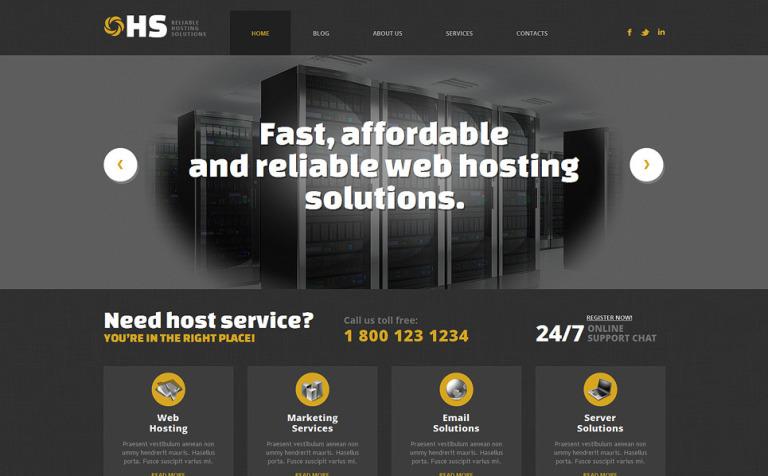 Tema de WordPress #49361 para Sitio de Hosting