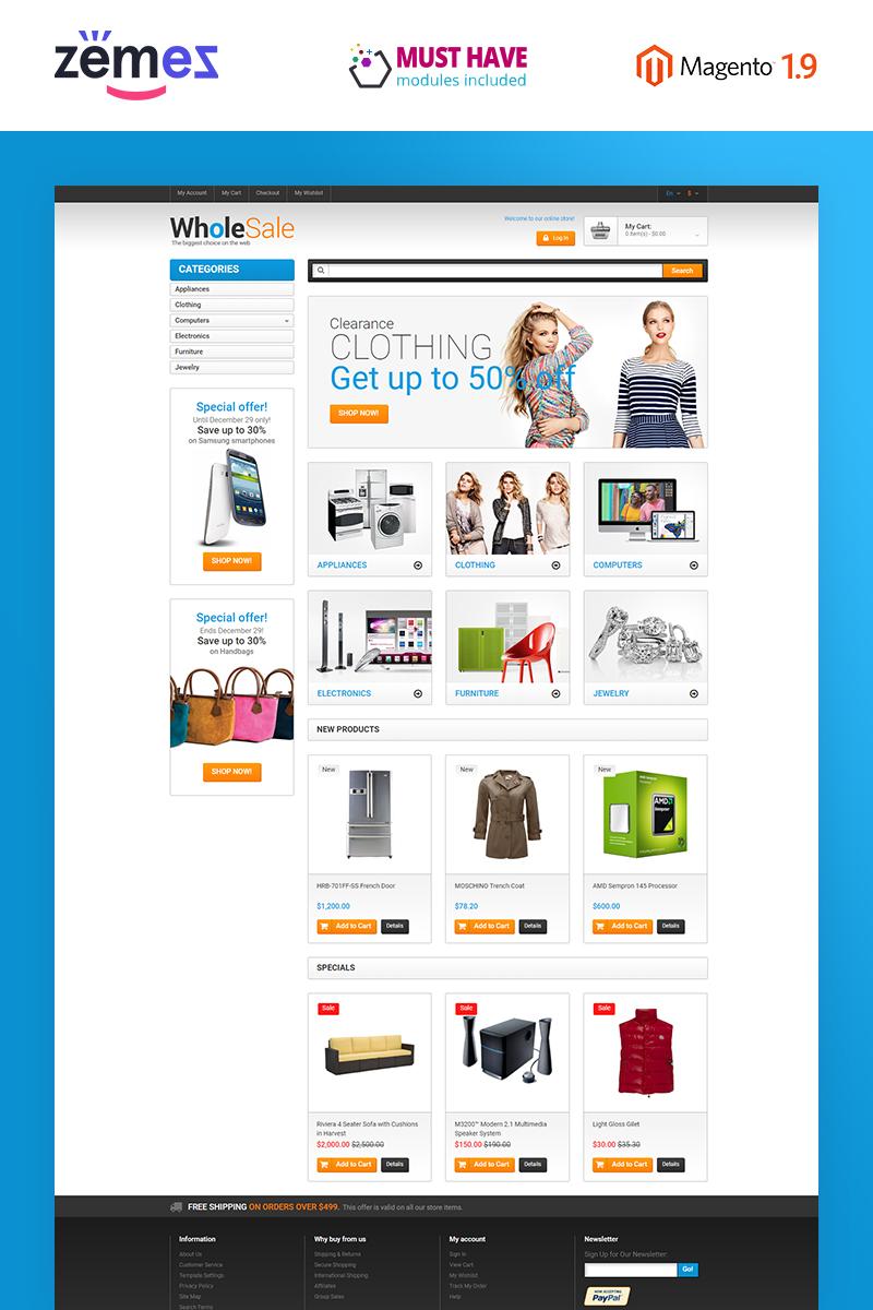 Tema Magento Flexível para Sites de Loja de Eletrônicos №49368