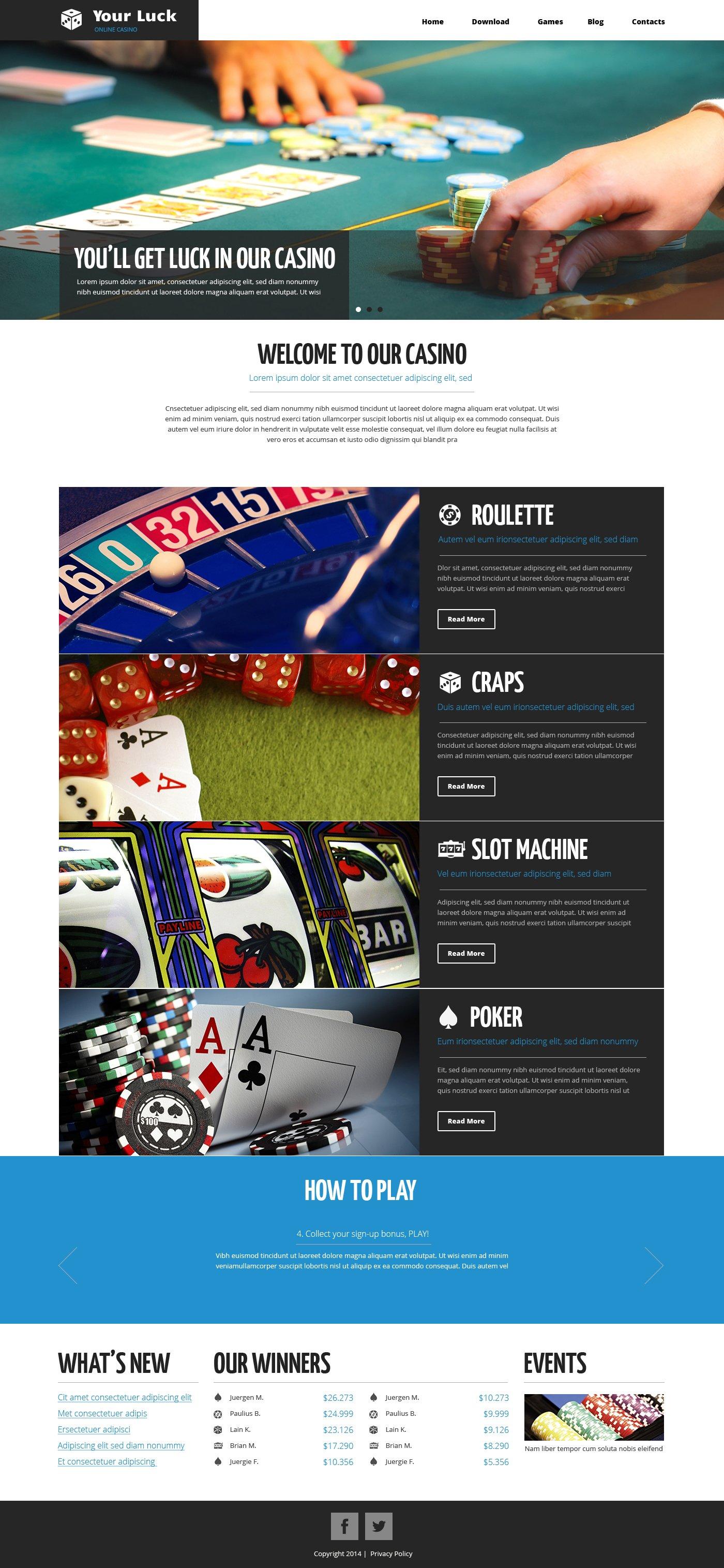 Template Drupal #49318 per Un Sito di Casino On-line