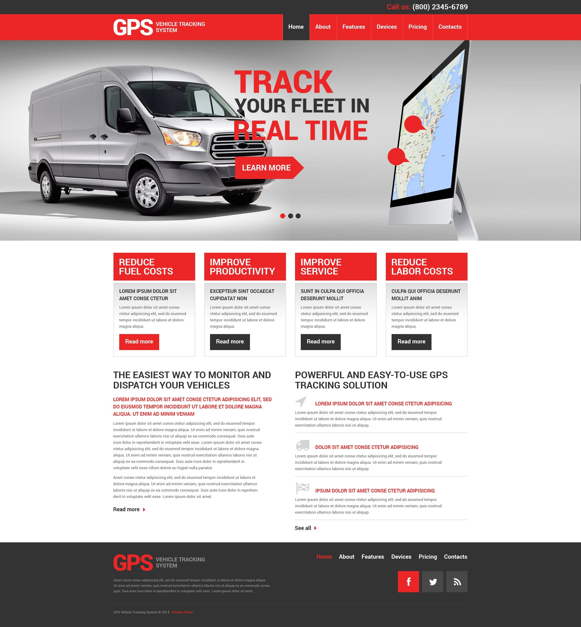 Trucking Responsive Website Template 49381