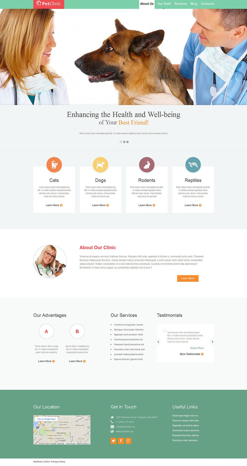 Vet Responsive Website Template New Screenshots BIG