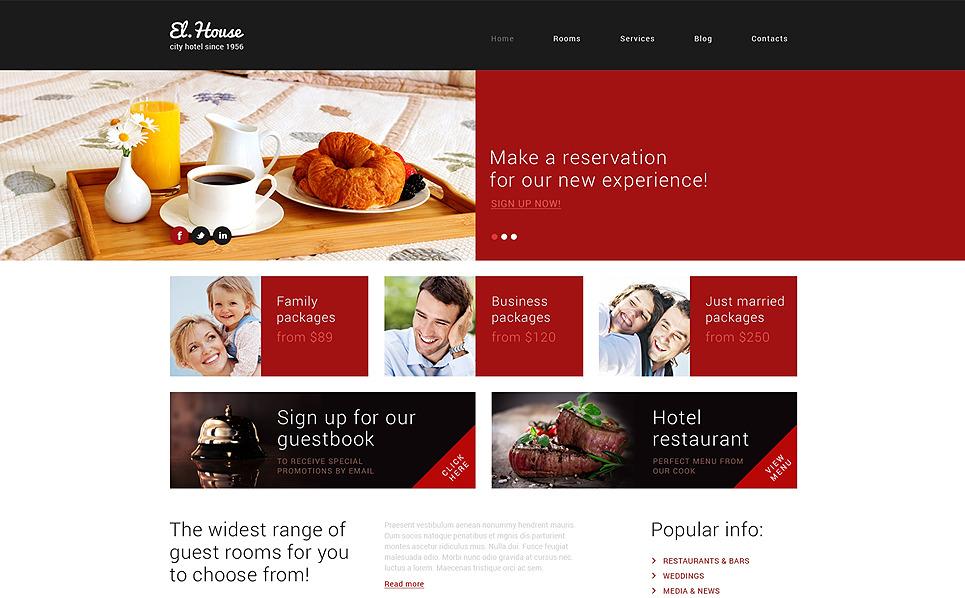 Responzivní WordPress motiv na téma Hotely New Screenshots BIG