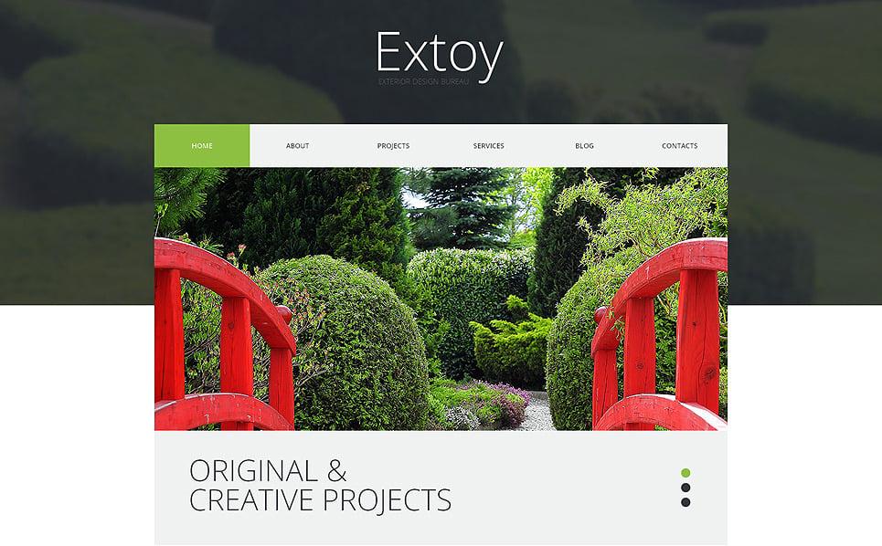Thème WordPress adaptatif  pour site de design extérieur New Screenshots BIG
