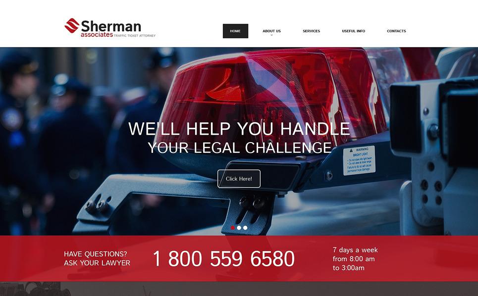 Reszponzív Ügyvédek Weboldal sablon New Screenshots BIG